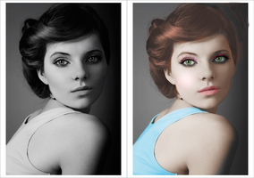 Girl colorization 7 by silene7