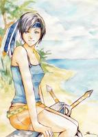 FF ACEO: Yuffie by AlleyCreek
