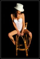 Kathryn - white hat 1 by wildplaces