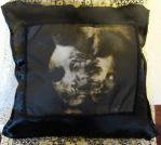 Forget Me Not by DA's Severed-Heads Art Pillow by ObsidianRavenShadow