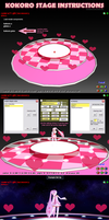 MMD Kokoro Hearts Stage instructions by Trackdancer