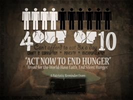 Act Now to End HUNGER by MGraphicDesign