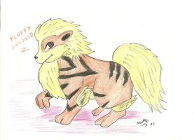 fluffy arcanine by DANYANTTO