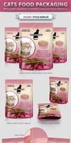 Cats Food Packaging Mock-up by idesignstudio