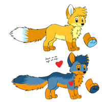 Ash and Rin Plush Concept art by VengefulSpirits