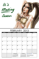 February - It's Mating Season by waterpieces