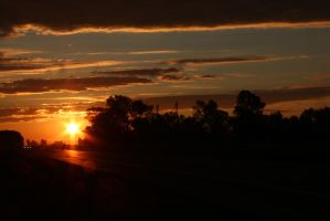 Sunset on the route 3 by AlejandroCastillo