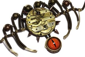 Steampunk Arachnid necklace by CatherinetteRings