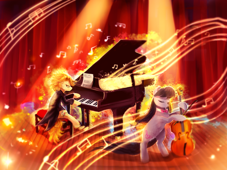MLP C: Harmonic Duo by AquaGalaxy