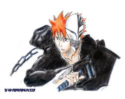 Ichigo with Mask Fan Work by Shaman-kiD