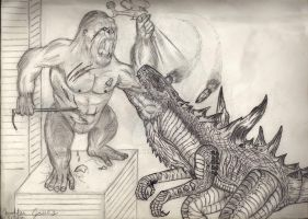 Kong vs Zilla by Art-26