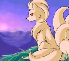 Ninetales Sunrise by Jiayi