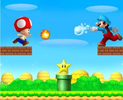 Mario vs Toad: Star chasing by 1990irock