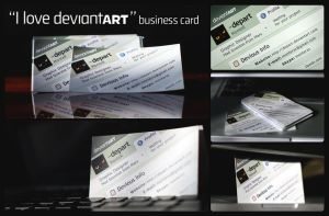 i love dA business card by monterxz