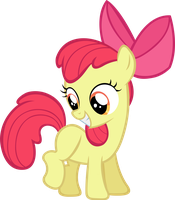 Apple Bloom all happy. by LilCinnamon