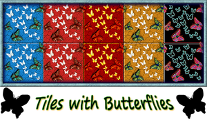Tiles with Butterflies by allison731