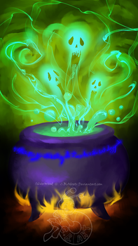 Closed - cursed cauldron by C-B-Adopts