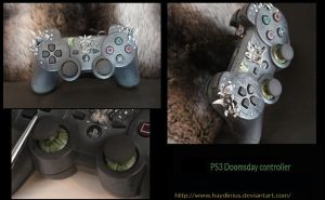 Doomsday PS3 Controller by Tigershark-Painting
