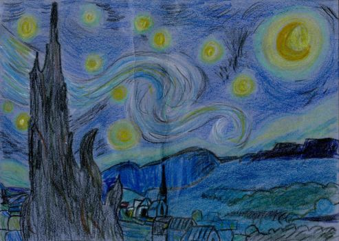 Starry Night: Rough Recreation by Paradox-95