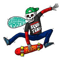 Summer Pirate Co - Skull Skate by paldipaldi
