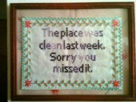 My first embroidered sign. by VirgoGarg