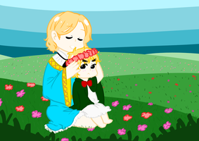 Hetalia: Young France and England by Yachiru-RinRin