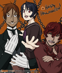 Halloween 2015 - Same Voices, Different Faces by HitanTenshi