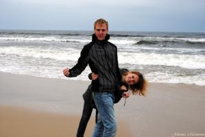 John and Tosha at the sea I by Skrattanfall