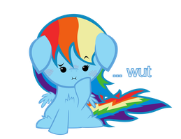...wut Rainbowdash by TellabArt