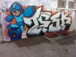 tesk and megaman by dadouX