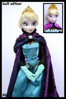 ooak coronation elsa doll from frozen. by verirrtesIrrlicht