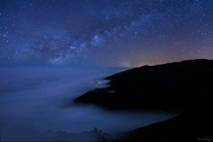 Milky way over california coast by tt83x