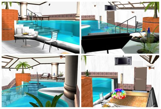 MMD Indoor Pool by arisumatio