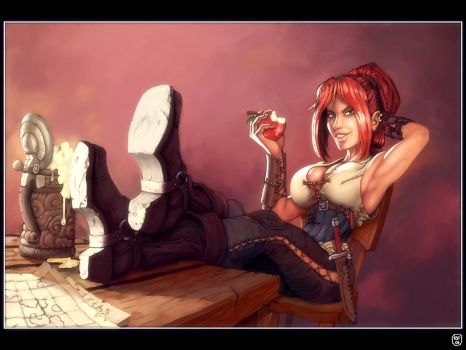 Pirate babe, how original by BluntieDK