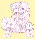 REQUEST: Fluffy Couple by dichibaba