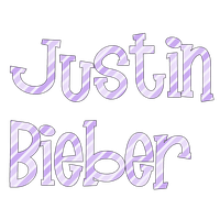 Justin Bieber PNG Text by chicastecnologicas21
