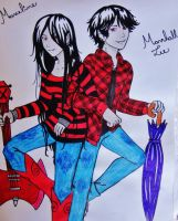 Marceline and Marshall Lee - Adventure Time by CamilleLuar
