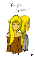 Cathy and Chris by RainingKnote