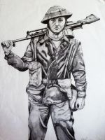 ww2 british soldier by salt25