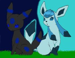 Umbreon and Glaceon Request by deemdeen1996