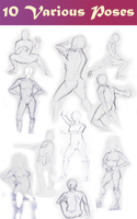 Human Study Drawings by Eliket