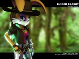 Bunnie Rabbot by one-dimensional-man