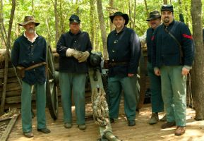Union Army Cannon Crew by texasghost