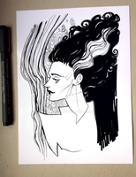 Bride of Frankenstein by Nachan