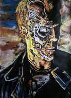 Terminator (Colour version) by Thelostsoulofpop
