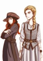 Black Sails: Eleanor And Anne Bonny by hanukara