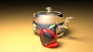Glass apple with teapot by themikester86