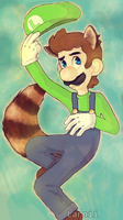 Racoon Luigi by Larnii