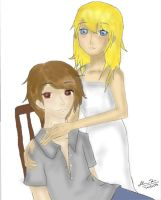 Linette and Thayn in COLOR by Jounin-SZ