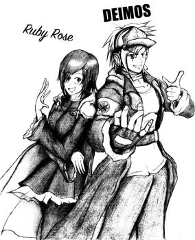 the rose and the merc (Ruby Rose and Deimos) by Jindopon